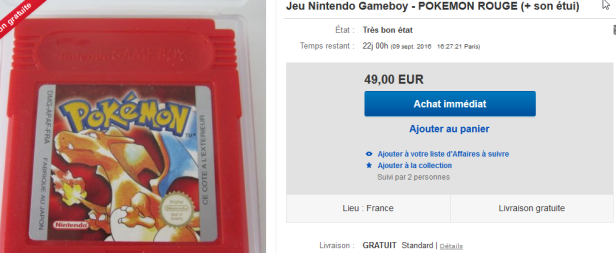2016-08-18 16_12_22-JEU Nintendo Gameboy Pokemon Rouge SON Étui _ eBay