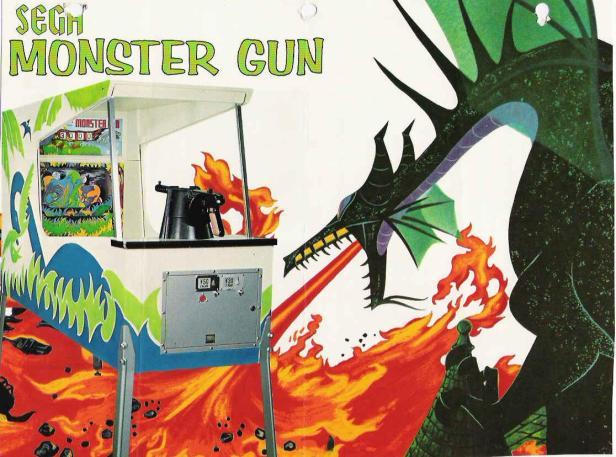 Monster Gun, un jeu qui ne brille pas par son originalité mais le flyer est pas mal fichu.