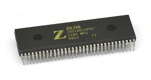 Le Zilog 80 l'un des processeurs utilisés dans l'Amstrad CPC ; MSX ; ZX Spectrum...